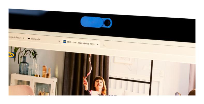 Webkameran suojus